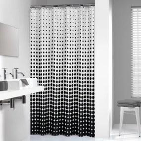 Douchegordijn Textiel Sealskin Speckles Polyester Zwart 180x200cm