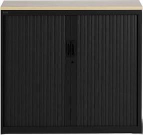 Roldeurkast Proline 105 x 120 cm incl. 1 legbord - Zwart