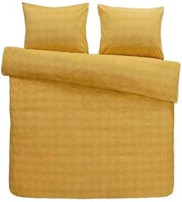 Comfort dekbedovertrek Jessie flanel - oker - 240x200/220 cm - Leen Bakker