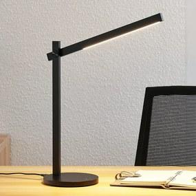 LED bureaulamp Loretta, langwerpig, zwart - lampen-24