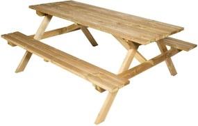 Grenen picknicktafel 79x150x100 cm