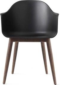 Menu Harbour Chair Stoel Zwart Met Onderstel Donker Eiken
