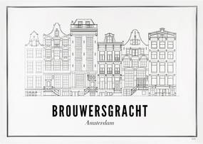 WIJCK Amsterdam Brouwersgracht print