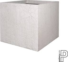 Pottery Pots | Bloempot Jumbo large: lengte 110 cm x diepte 110 cm x hoogte 92 cm wit outdoor bloempotten fiberstone outdoor | NADUVI outlet
