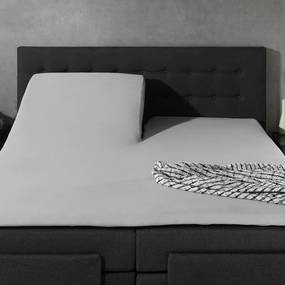 Home Care 2-PACK: Splittopper Jersey - Home Care Grijs 140 x 200/210/220 cm