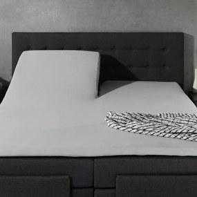 Home Care 2-PACK: Splittopper Jersey - Home Care Grijs 200 x 200/210/220 cm