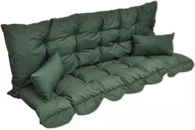 4-delige Kussenset voor schommelstoel stof groen