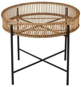 Bijzettafel met bamboe tray - ø60x49 cm