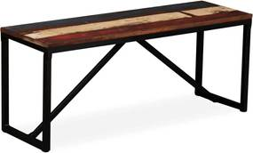 Bankje 110x35x45 cm massief gerecycled hout