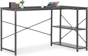 Computerbureau 120x72x70 cm zwart