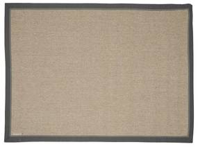 Rivièra Maison - Edgartown Rug 240x160, natural/dark grey border - Kleur: grijs