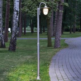 Gebogen lantaarnpaal Mian van roestvrij staal - lampen-24