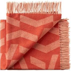 Plaid oranje, alpacawol wol, Dashes
