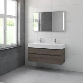 Bruynzeel Roma badmeubelset 120x60.5x46cm met spiegel orlando eiken 227663k