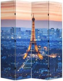 Kamerscherm inklapbaar Parijs bij nacht 160x170 cm