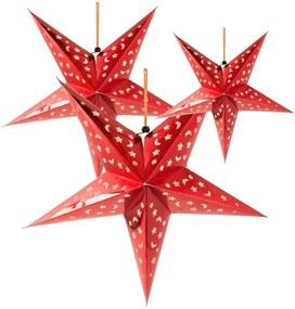 Kerstster rood - 3 stuks
