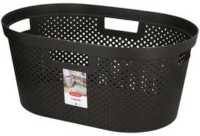 Curver wasmand Infinity Dots - 40 liter - donkergrijs