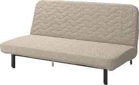 IKEA NYHAMN 3-zits slaapbank Met foammatras/hyllie beige - lKEA