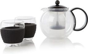 Bodum Assam theepers 1 liter + 2 glazen 35 cl
