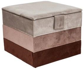 Sieradendoos velvet - rood/roze - 15x15x12 cm