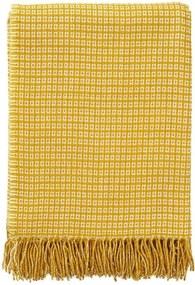 Plaid geel, wol, bamboe, Java