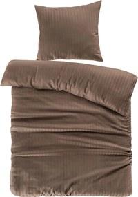 Morning Lifestyle | Dekbedovertrekset Valerina medium: lengte 240 cm x breedte 200 cm bruin dekbedovertreksets katoen, satijn | NADUVI outlet