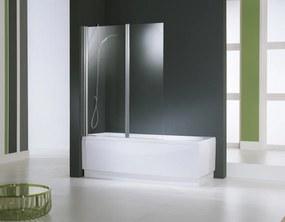 Aurora 2-delige badwand 120x150 cm. omkeerbaar matchroom-helder glas