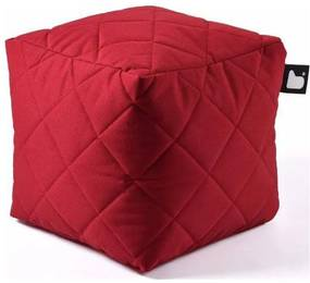 Extreme lounging B-Box Quilted Poef - Rood