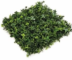 Kunstplant gemengde mat groen 50x50 cm 4 st 417983
