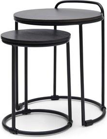 Rivièra Maison - Shoreditch End Table  S/2 - Kleur: zwart
