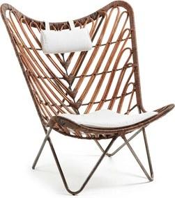 Kave Home Cobal (Cocoa) Design Fauteuil Van Rotan