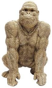 Kare Design Gorilla Gold Deco Gorilla Beeld 46 Cm