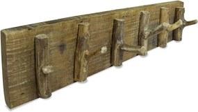 Kapstok 60x15 cm massief gerecycled hout