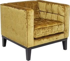 Kare Design Mirage Okergele Comfortabele Fauteuil