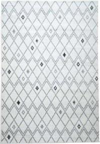 Vloerkleed Florence ruiten - grijs - 160x230 cm - Leen Bakker