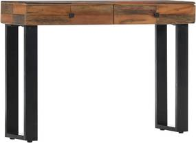 Wandtafel 110x30x76 cm massief gerecycled hout