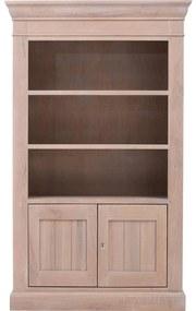 Goossens Boekenkast Westwood, 120 cm breed, 2 deuren, 3 open vakken