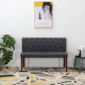 Medina Bankje 120 cm kunstsuède grijs