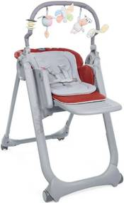 Polly Magic Relax Hoge Stoel - Red Passion - Kinderstoelen