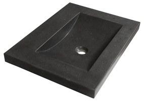 Wastafelblad 60 CoreStone No.13 1 Kraangat