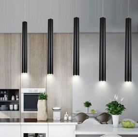 Saniclear Tube mat zwarte hanglamp LED 40cm incl. lichtbron