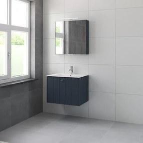 Bruynzeel Bino meubelset met spiegelkast 70cm 1 kraangat oud blauw 225306k