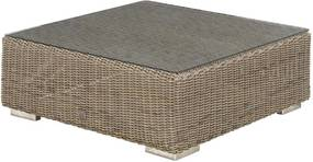 4 Seasons Outdoor Kingston loungetafel met glasplaat 95 x 95 x 35 cm