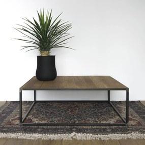 Spinder Design Salontafel John 100x100 cm - Eiken hout - Staal - Spinder Design