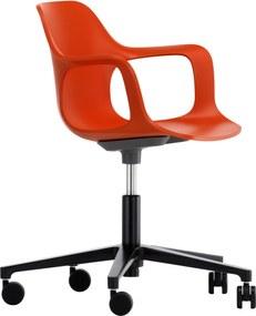 Vitra Hal Armchair Studio bureaustoel oranje