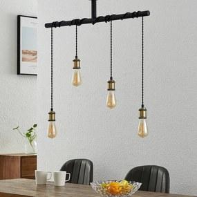Kravos hanglamp 4lamps, zwart-messing - lampen-24
