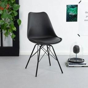 Kave Home Eetkamerstoel / Kuipstoel Ralf, kleur zwart