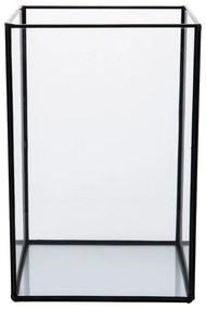 Terrarium rechthoekig - glas - 18x18x27 cm