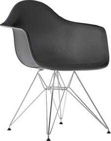 Vitra DAR stoel kuip basalt onderstel verchroomd