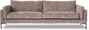 Design in Reach | Laetitia 3-zitsbank breedte 249 cmhoogte 86 cmdiepte 96 oudroze zitbanken velours met ribcord effect.velours | NADUVI outlet